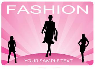 woman fashion vector
