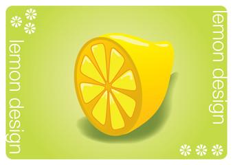 lemon design vector