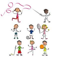 vecteur 7 enfant sport