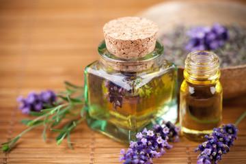 Fotobehang Lavendel Lavande, produits cosmétiques naturels