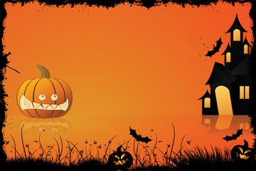 Grunge Halloween frame