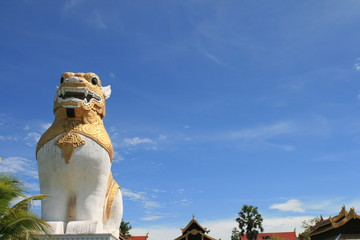 Great Lion with blue sky