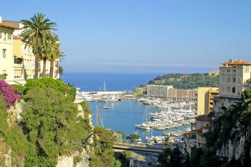 Panoramic view of sea port of Monte-Carlo, Monaco
