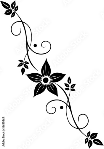 """blume blüte ranke filigran floral ornamental"