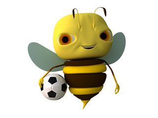 bee with a ball