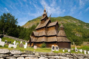 Stabkirche in Borgund, Norwegen