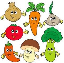 Cute cartoon vegetable collection