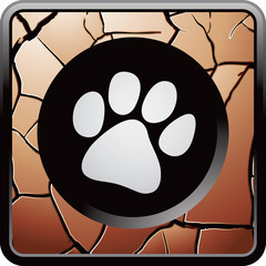 Paw print on bronze web button