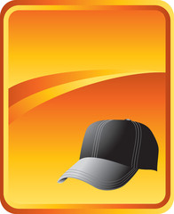 Baseball cap on gold background