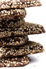 stack of chocolate coocies