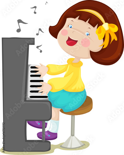 clipart girl playing piano - photo #20