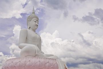 White Buddha image, Thailand