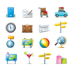 travel and transport icons