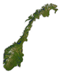 Norwegen Karte 3D df