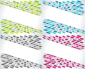 Set of four business abstract backgrounds.