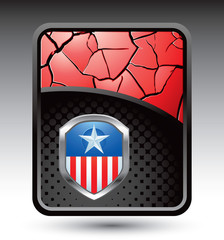 Patriotic icon on red cracked backdrop