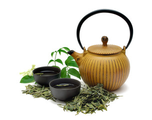 Chinese Longjing green tea