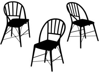 Gartenstühle - Silluette