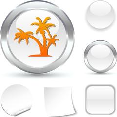 tropical  white icon. Vector illustration