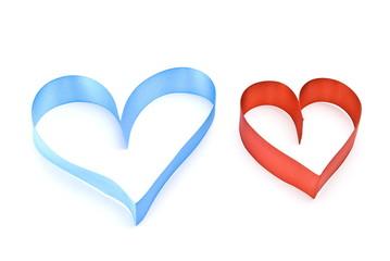 Hearts.Selective focus
