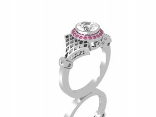 1 Carat diamond platinum Victorian rings