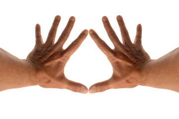 le coeur entre les doigts