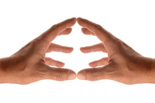 centrer entre les mains