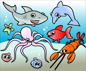 cartoon ocean animals 1