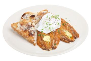 Kippers & Poached Egg Breakfast