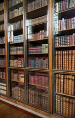 Door stickers Library victorian library bookshelves with glass doors