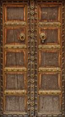 ancient wood door