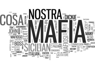 Mafia word cloud