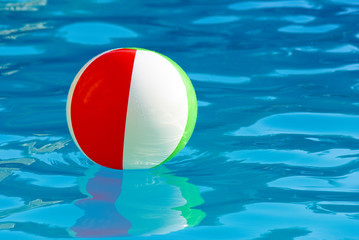 striped ball in the pool