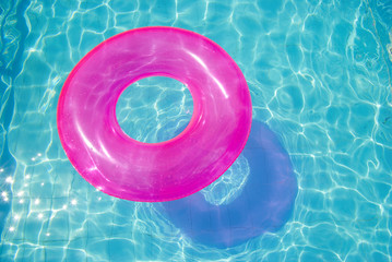 rubber ring in the swimming pool