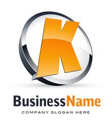 Alphabet logo design, letter K