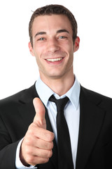 young business man /thumbs up 1