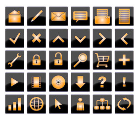 Goldglanz Buttons verschiedene