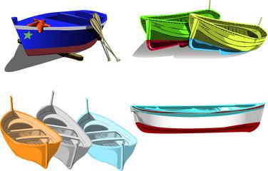 Set di barche da pesca
