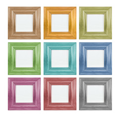 Coloured picture frame - square