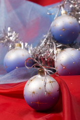 holiday series: silver Christmas garland and decorated ball