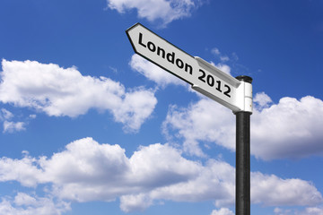 London 2012 signpost