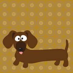 Dachshund (hot dog) & background