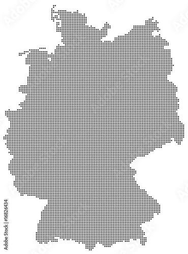deutschland karte punkte Deutschland   Karte schwarze Punkte