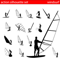 action silhouette set