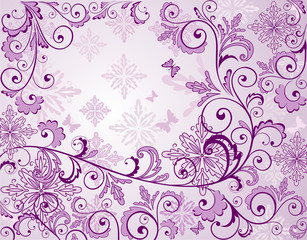 Beautiful floral lilac background