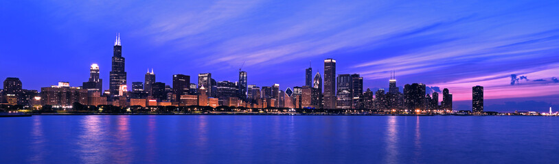 Fototapete - XXL - Famous Chicago Panorama