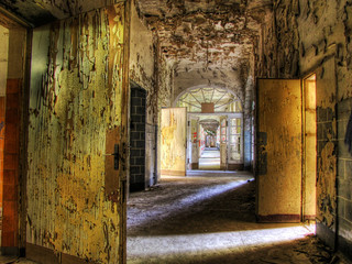 Printed kitchen splashbacks Old Hospital Beelitz altes Beelitz-Heilstätten