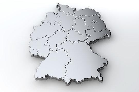 Deutschlandkarte Komplett