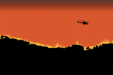 Helicoptero de extincion de incendios