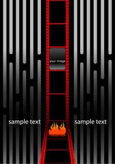 cinema presentation film strip frame